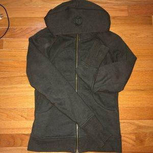 Lululemon dark green scuba hoodie